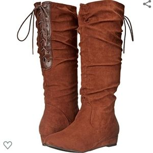 2 Lips Too - Top Sloucher Lace up Boots - NEW